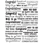 Karen Foster Design - Final Touch Collection - Clear Stickers - Congratulations