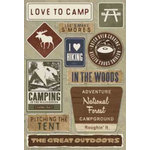 Karen Foster Design - Outdoors Collection - Cardstock Stickers - Love to Camp