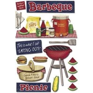 Karen Foster Design - Picnic Collection - Sticker - Barbeque