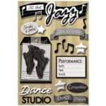 Karen Foster Design - Love to Dance Collection - Sticker - Jazz Dance