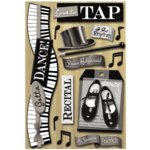 Karen Foster Design - Love to Dance Collection - Sticker - Tap Dance