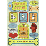 Karen Foster Design - A Dog's Life Collection - Sticker - Puppy Love
