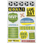 Karen Foster Design - Soccer Collection - Sticker - Soccer Balls, CLEARANCE