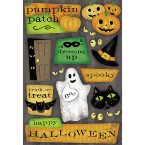 Karen Foster Design - Halloween Collection - Sticker - Happy Halloween