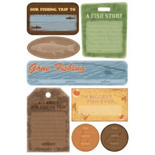 Karen Foster Design - Fishing Collection - Cardstock Stickers - Fishing Trip Journal