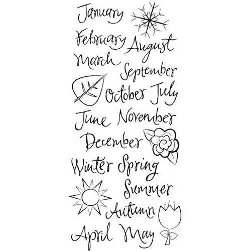 Karen Foster Design - Calendar Collection - Clear Stickers - Months of the Year