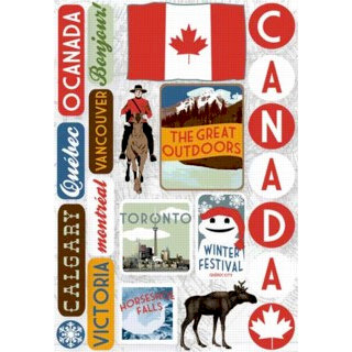 Karen Foster Design - Destination Stickers - Canada