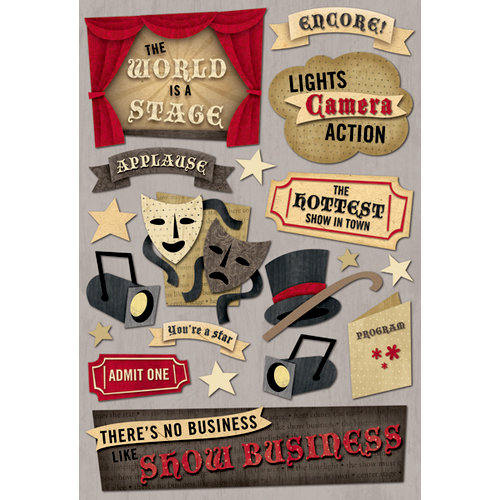 Karen Foster Design - Drama Collection - Cardstock Stickers - Show Business