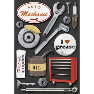 Karen Foster Design - Auto Mechanic Collection - Stickers - Auto Mechanic