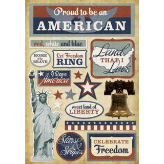Karen Foster Design - Patriotic Collection - Cardstock Stickers - American Pride