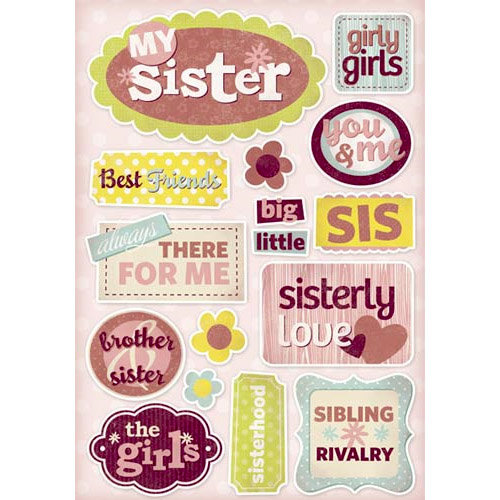 Karen Foster Design - Sister Collection - Cardstock Stickers - My Sister