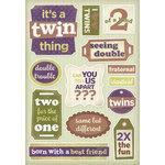 Karen Foster Design - Twins Collection - Cardstock Stickers - Seeing Double