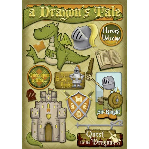 Karen Foster Design - Dragon Collection - Cardstock Stickers - A Dragons Tale