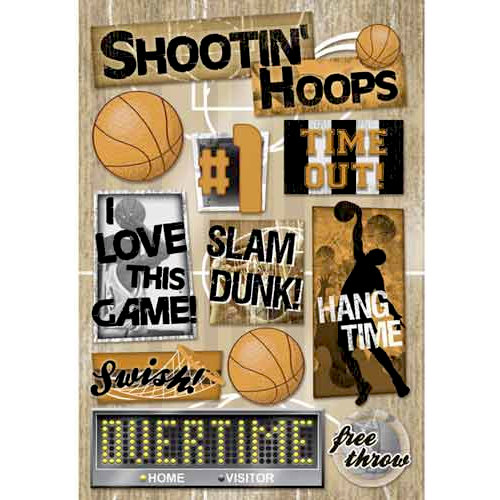 Karen Foster Design - Basketball Collection - Cardstock Stickers - Hang Time