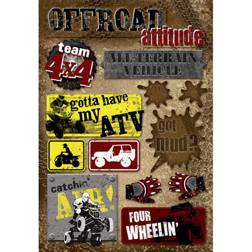 Karen Foster Design - Off Road Collection - Cardstock Stickers - Off Road Attitude