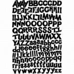 Karen Foster Design - Alphabet Cardstock Stickers - Funky Black