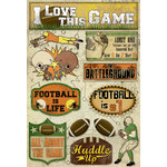Karen Foster Design - Football Collection - Cardstock Stickers - Huddle Up