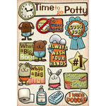 Karen Foster Design - Potty Training Collection - Cardstock Stickers - Time To Go Potty