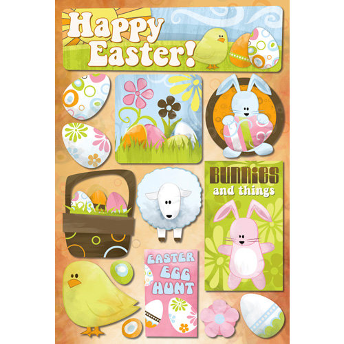 Karen Foster Design - Cardstock Stickers - Bunnies and Things