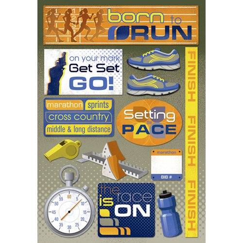 Karen Foster Design - Cardstock Stickers - Born To Run