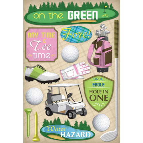 Karen Foster Design - Golf Collection - Cardstock Stickers - Women's Tee Time