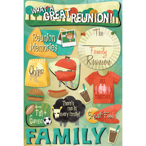 Karen Foster Design - Family Reunion Collection - Cardstock Stickers - Reunion Memories