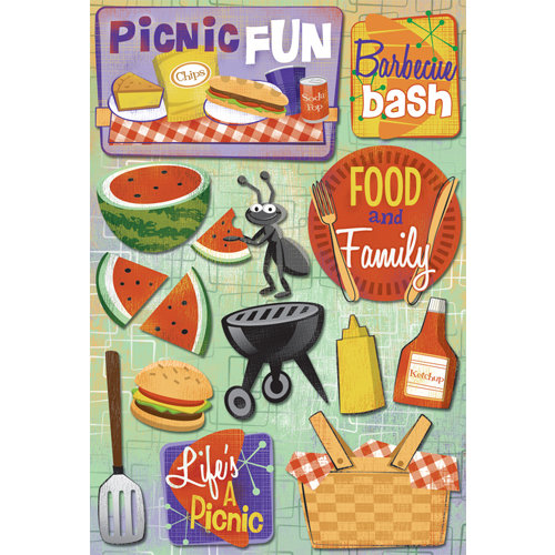 Karen Foster Design - Picnic Collection - Cardstock Stickers - Picnic Fun