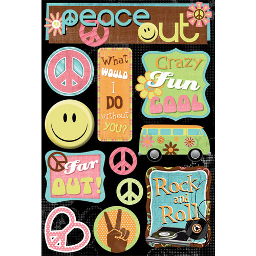 Karen Foster Design - Peace Collection - Cardstock Stickers - Peace Out