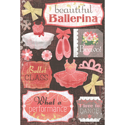 Karen Foster Design - Ballet Collection - Cardstock Stickers - Beautiful Ballerina