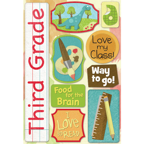 Karen Foster Design - Grade School Collection - Cardstock Stickers - Third Grade