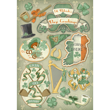 Karen Foster Design - St. Patrick's Day Collection - Cardstock Stickers - Erin Go Bragh
