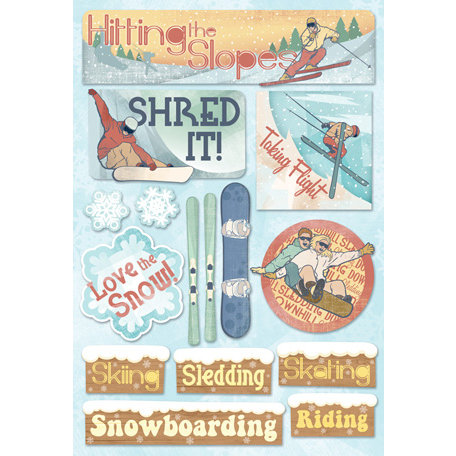 Karen Foster Design - Winter Sports Collection - Cardstock Stickers - Hitting The Slopes