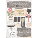 Karen Foster Design - Wedding Collection - Cardstock Stickers - Husband and Wife