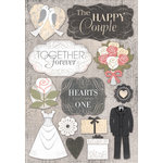 Karen Foster Design - Wedding Collection - Cardstock Stickers - The Happy Couple