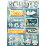 Karen Foster Design - Robots Collection - Cardstock Stickers - Robots