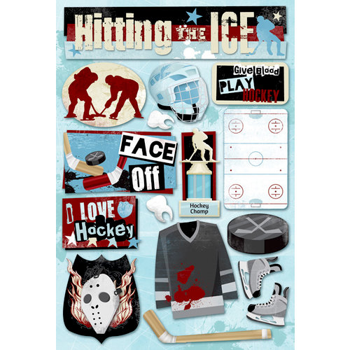 Karen Foster Design - Hockey Collection - Cardstock Stickers - Hitting The Ice