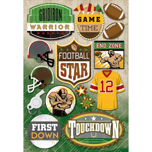 Karen Foster Design - Football Collection - Cardstock Stickers - Football Star