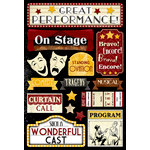 Karen Foster Design - Drama Collection - Cardstock Stickers - Great Performance