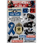 Karen Foster Design - Police Collection - Cardstock Stickers - Defending The Public