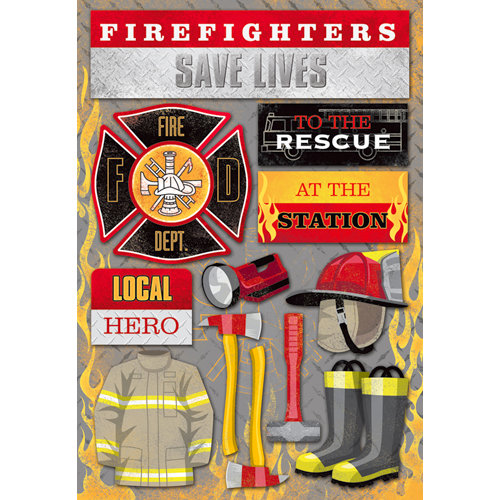Karen Foster Design - Firefighter Collection - Cardstock Stickers - Firefighter
