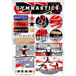 Karen Foster Design - Gymnastics Collection - Cardstock Stickers - I Love Gymnastics