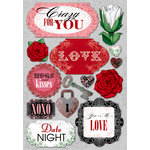 Karen Foster Design - Valentine's Day Collection - Cardstock Stickers - Crazy For You