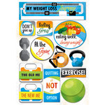 Karen Foster Design - Weight Loss Collection - Cardstock Stickers - My Weight Loss Journey