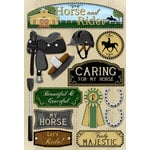 Karen Foster Design - Equestrian Collection - Cardstock Stickers - Horse and Rider