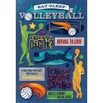 Karen Foster Design - Volleyball Collection - Cardstock Stickers - Eat Sleep Volleyball