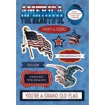 Karen Foster Design - Patriotic Collection - Cardstock Stickers - America the Beautiful