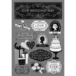 Karen Foster Design - Wedding Collection - Cardstock Stickers - Happily Ever After