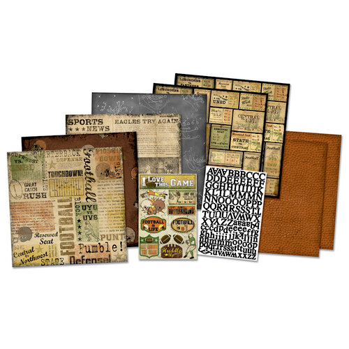 Karen Foster Design - Football Collection - Scrapbook Kit - Sports News