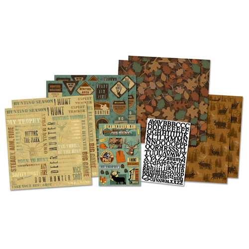 Karen Foster Design - Hunting Collection - Scrapbook Kit - On The Hunt
