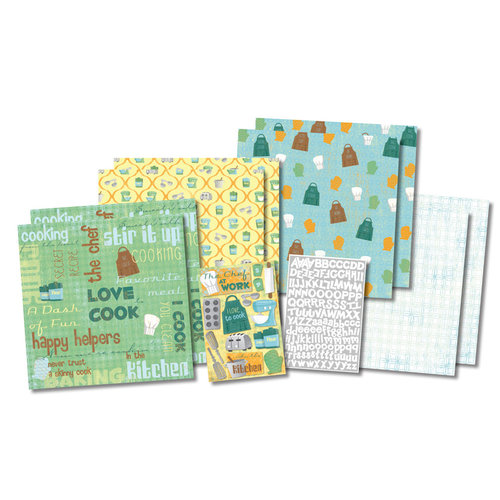 Karen Foster Design - In the Kitchen Collection - Scrapbook Kit - Chef at Work